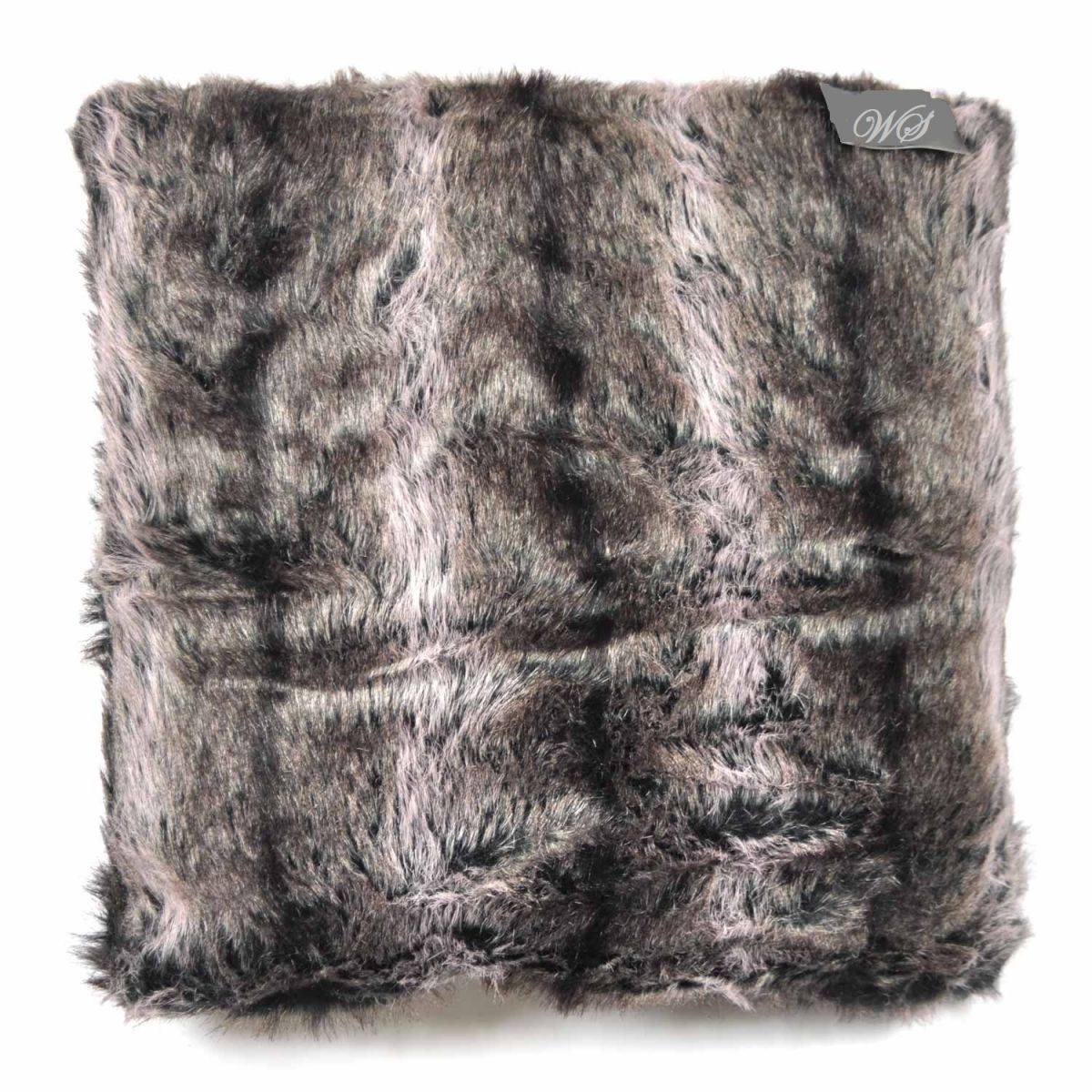 Kussenhoes bont de woonschat - Kussen bont grijs ...